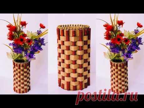 DIY Easy Paper Flower Vase | How To Make a Flower Vase at Home  | Home Decor  | #38 | - YouTube
