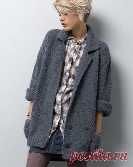 Удлиненный жакет-куртка спицами. Удлиненный жакет-куртка спицами. Описание вязания