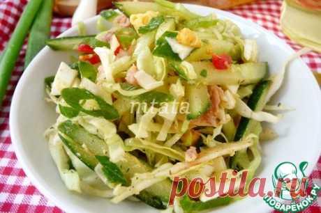 Салат с капустой и тунцом – кулинарный рецепт