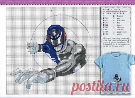 Вышивка для мальчиков - Power Rangers SPD