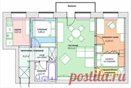 Квартира 60 кв.м