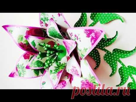 FLOR GIGANTE DE PAPEL | LIRIO | FLORES DE PAPEL | MOLDES GRATIS | GIANT PAPER LILY FLOWER