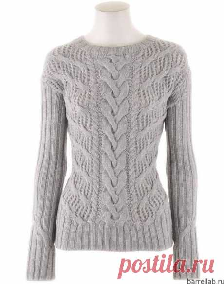 Узорчатый пуловер спицами. Теплый пуловер с красивым узором для женщин | Домоводство для всей семьи