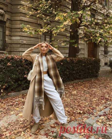 Модные шарфы осень-зима 2021-2022, идеи образов, тренды, фото