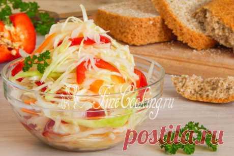 Капуста Провансаль быстрого приготовления Эта холодная закуска – просто изумительное дополнение к мясу и птице, а также вареной или тушеной картошке.