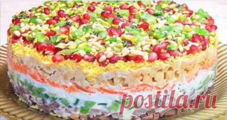 Салат на праздничный стол «Драгоценная россыпь». Очень вкусный рецепт!