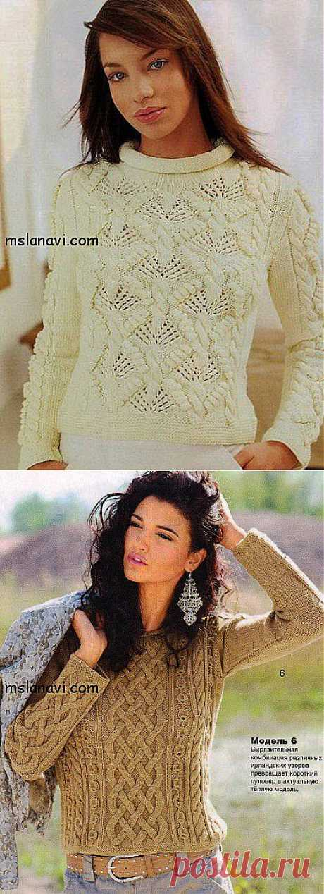 Короткие женские пуловеры для весны | Вяжем с Ланой