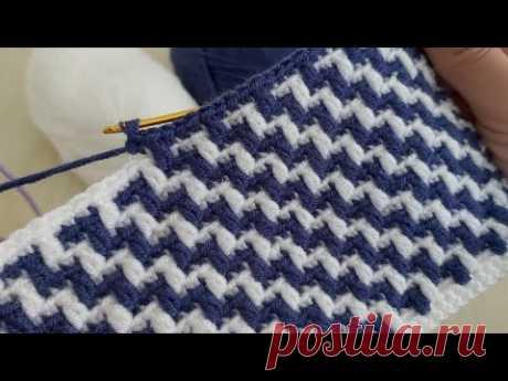 Super Easy Crochet Mosaic Knitting - Çook Güzel Yelek Battaniye Örgü Modeli