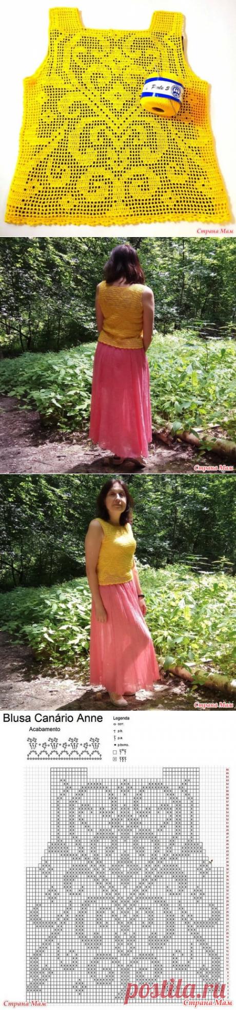 Обзор по летнему топу филейкой - Все в ажуре... (вязание крючком) - Страна Мам