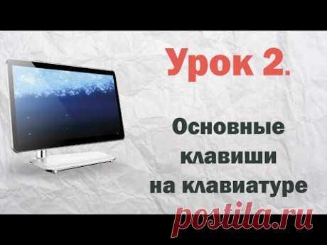 2.  Основные клавиши на клавиатуре