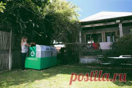 Es nueva јединица por компостирање a la cantidad куће lako pretvara otpad a gorivo por zelene gradare