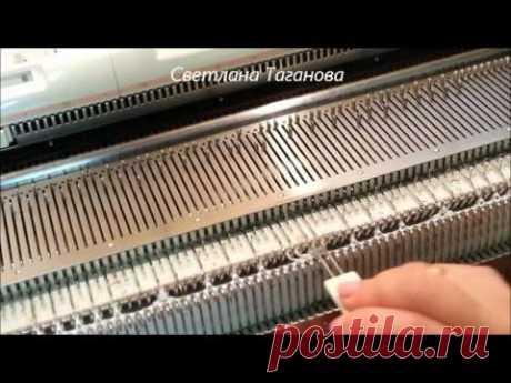 Вязание косы с мережкой на репсе