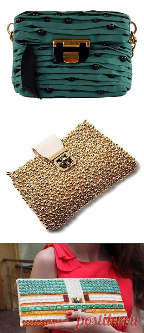 Клатч с бусинками / Сумки, клатчи, чемоданы / Модный сайт о стильной переделке одежды и интерьера