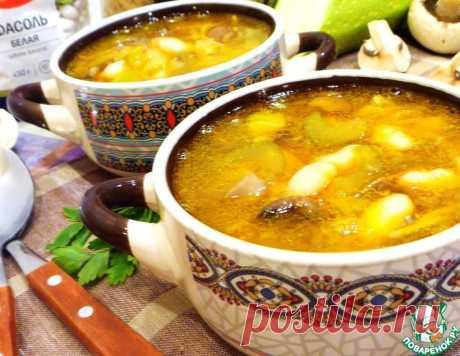 Фасолевый суп с вермишелью и грибами – кулинарный рецепт