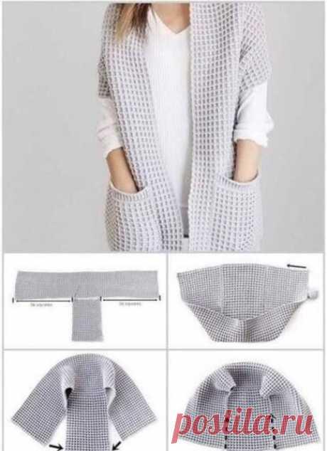 Идея для простой жилетки