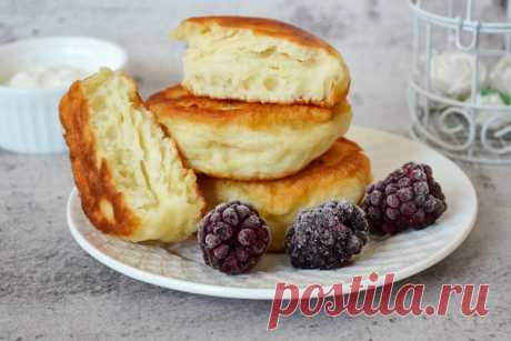 Пышные оладушки на кефире - рецепт с фото