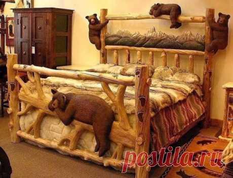 Вот это кровать! Браво мастеру👍