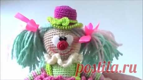 Клоун крючком. Часть 6. Оформление клоунессы __ мастер-класс toyfabric