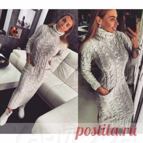Длинное вязаное платье Доратти