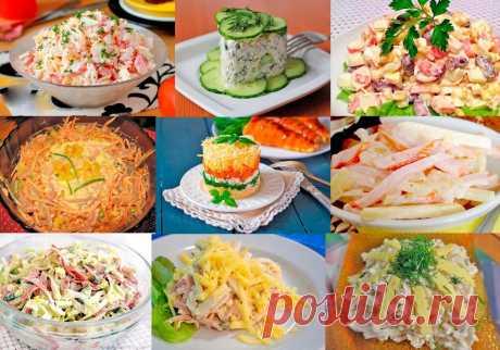 10 самых БЫСТРЫХ салатов! Готовятся за 10 минут Приготовить просто, быстро и доступно.
