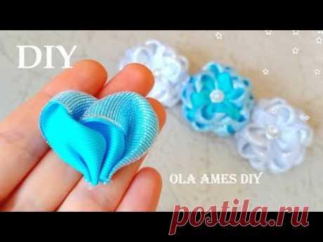 Amazing Winter Flower | Красивые цветы из лент | Easy Flower Making | Ribbon Tricks | Ola ameS DIY