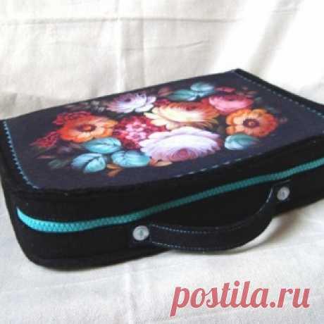 МК -- шьём чемоданчик-органайзер для рукодельницы