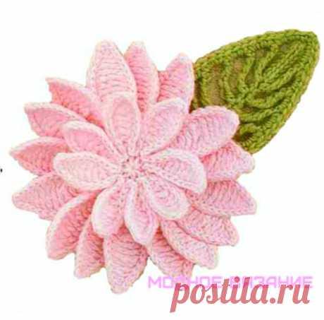 Цветок лотоса крючком - Модное вязание