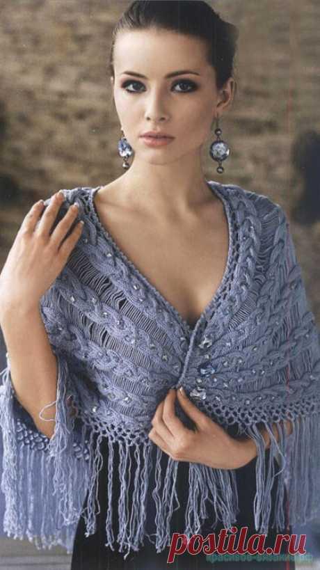 Элегантное болеро с косами — Красивое вязание