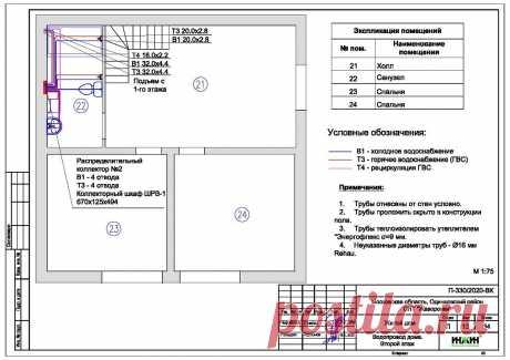 Проект отопления частного дома, пример 1363