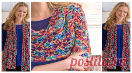Happy-Go-Lacy Crochet Shawl Pattern