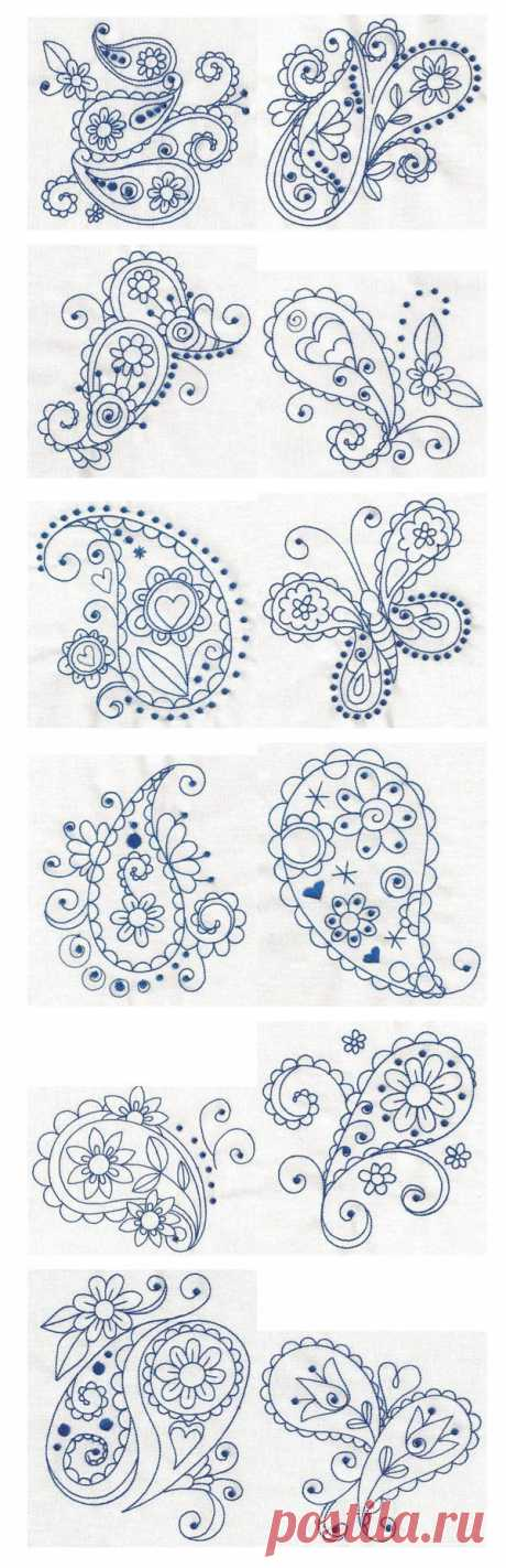 The skill in these are incredible. THe paisley...