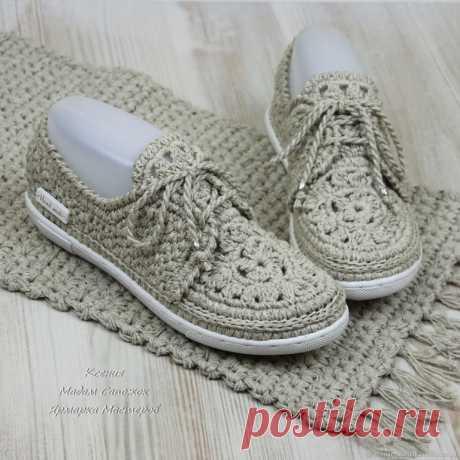 Очень красивая вязаная обувь от Мадам Сапожок Ксения.