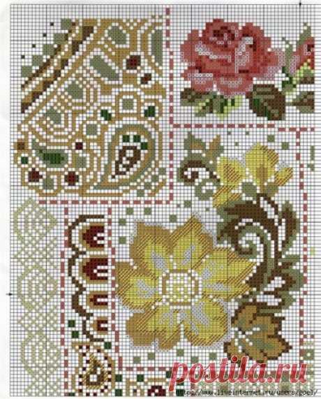 Вышивка подушек крестиком | Схемы вышивки крестом, вышивка крестиком