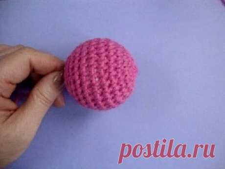 La labor de punto por el gancho Como tejer la bolita la Lección 294 How to crochet ball - YouTube