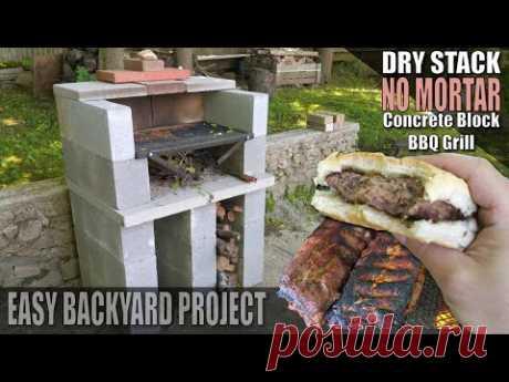 Building a Concrete Block BBQ / Cinder Block BBQ Grill - Da P.A Vlog