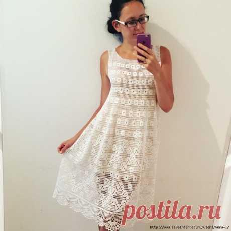 Платье (филейное вязание). Автор Лилита Матросова