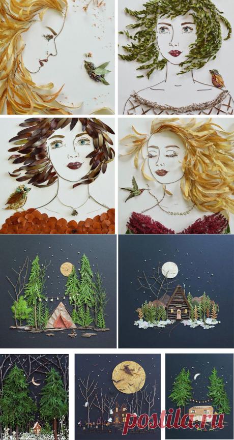Поделки из осенних листьев. 40 идей - осенние поделки | Снова Праздник!
