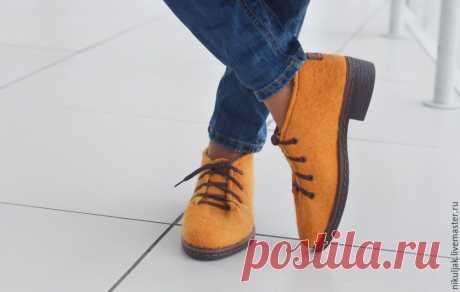 Туфли валяные MUSTARD – купить в интернет-магазине на Ярмарке Мастеров с доставкой - 8LY59RU   Днепр
