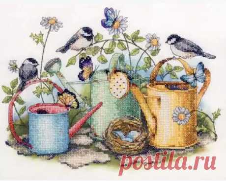 Золотая коллекция Прекрасный Счетный набор крестиков Птичье гнездо бабочки бабочка и полив горшок сад|Упаковка| | АлиЭкспресс