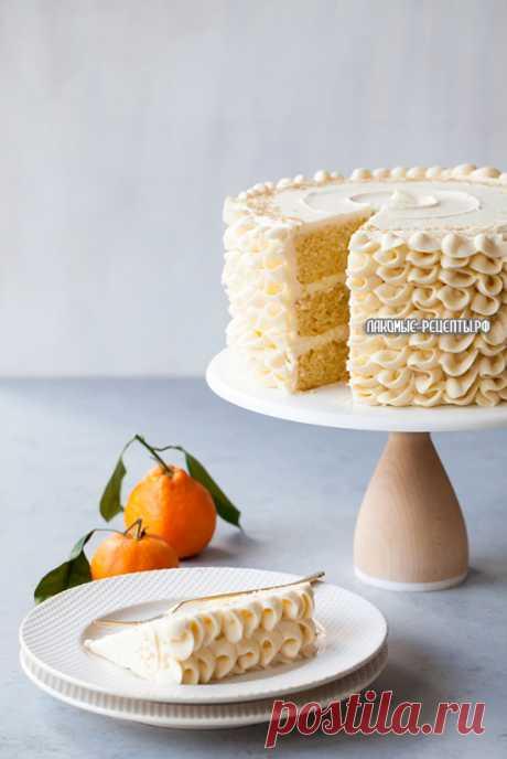 """Торт """"Мимоза"""" с шампанским и апельсиновым бисквитом"""