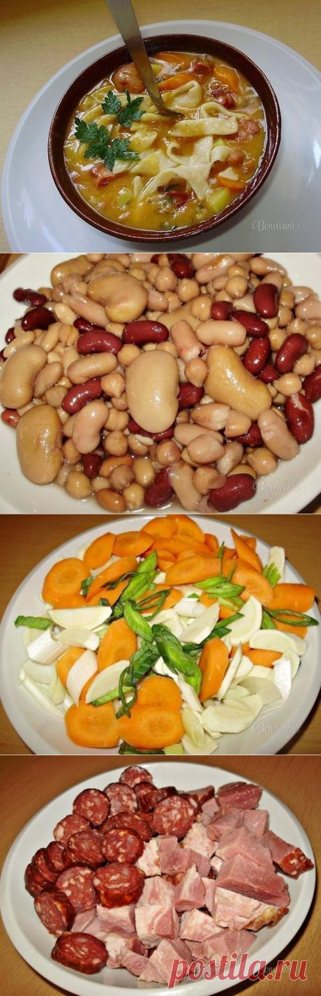 Как приготовить фасолевый суп с домашней лапшой - рецепт, ингредиенты и фотографии