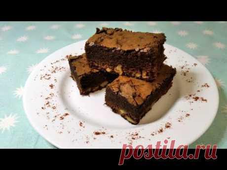 Пирог шоколадный брауни с орехами - YouTube