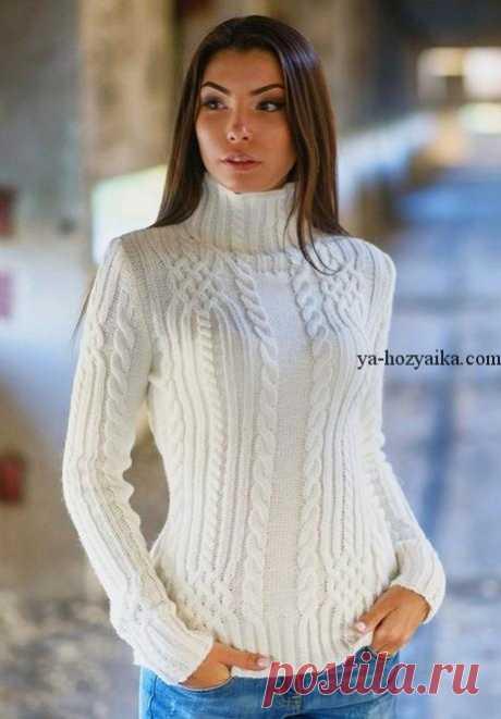 Свитер реглан с рельефным узором спицами. Пуловеры и свитера спицами бесплатные схемы.