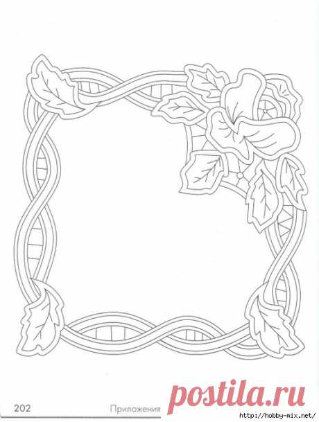 Templates for an embroidery of napkins.