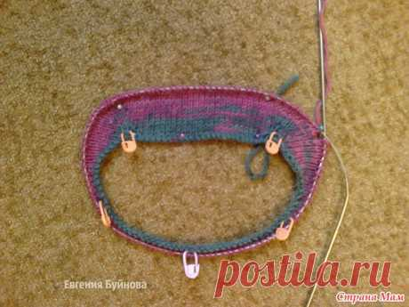 The sweater connected by a raglan from top to down for the daughter. - Knitting - the Country of Mothers