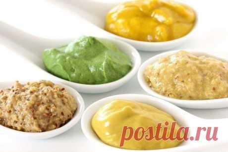 Mustard sauce (5 types)