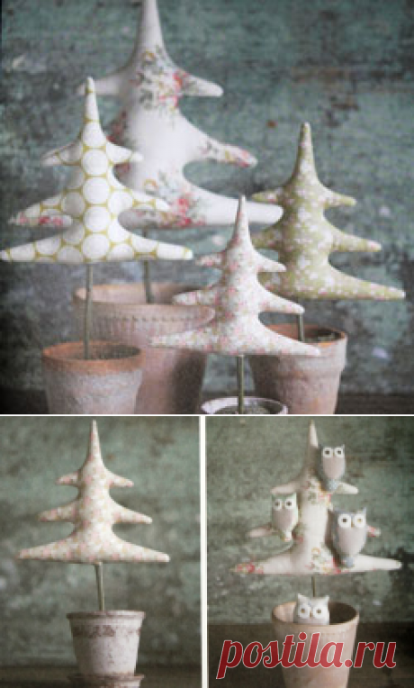 Рождественская тильда ёлка — мк и выкройка
