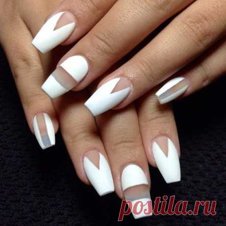 Красим ногти с геометрией! #looksima