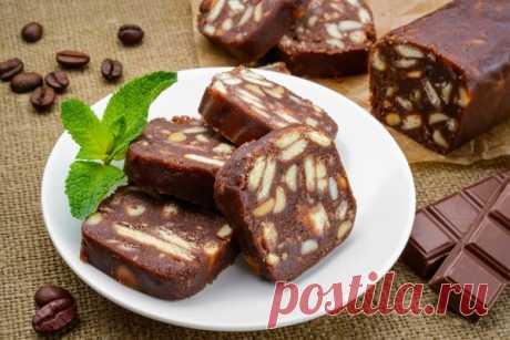 Шоколадная колбаса без масла   Фрекен Бок   Яндекс Дзен