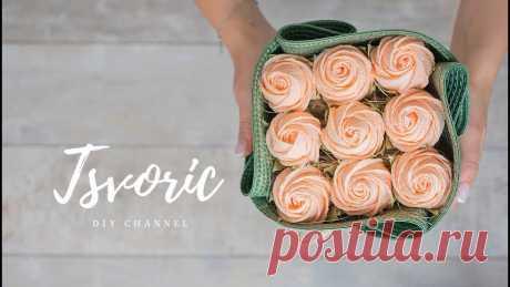 #tsvoric #цветыизбумаги #розаизбумги Оригинал видео https://www.instagram.com/p/Bx336v0FiHG/ Размер салфетки 38 см, бумагу использовала плотностью 180 гр. Pi...